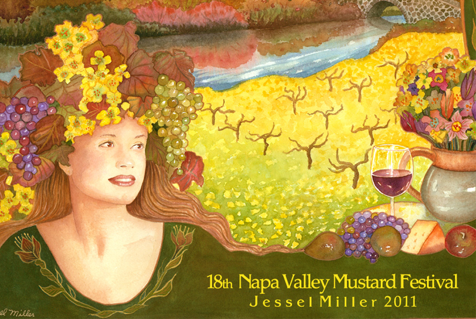 Napa Valley Mustard Festival 2011 Artwork by Jessell Miller